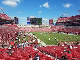 Raymond James Stadium Section 120 Tampa Bay Buccaneers