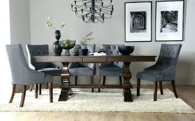 grey wood round dining table dark and chairs room furniture excellent black with white uk home