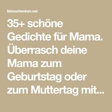 Gedichte Für Mama Geburtstags Muttertagsgedichte Geschenke