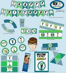 Diy Party Printables Ben 10 Party Printables Diy Pdf By Worldwideparty On Etsy