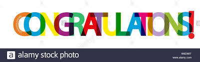 Words For Congratulations Colorful Banner With The Words Congratulations For Design