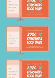 Food Drive Posters Online Christmas Food Drive Poster Template Fotor Design Maker