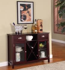 Amazon King s Brand WR1241 Wood Wine Rack Console Sideboard