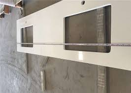 pure white white quartz countertop precut kitchen countertops for double sink cooking top