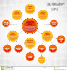 Organizational Chart Infographic Stock Vector Illustration