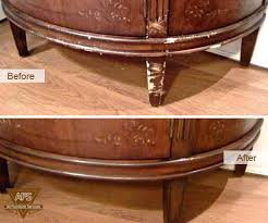 Sofa REPAIR Antique Restoration Wood Leather Finishing Dyeing Fix