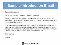 email introduction sample sample introduction email camino english