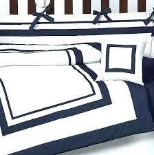 navy blue and white duvet cover blue white bedding sets navy blue and white comforter sets hotel baby bedding set by sweet designs 9 blue white striped bed