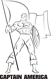 Captain America Coloring Pages Free Google