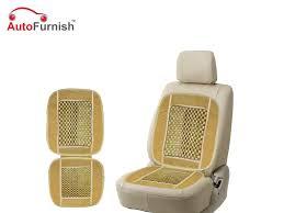 car wooden bead seat cushion with black beige velvet border