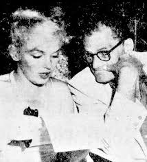 best marilyn monroe arthur miller images  marilyn and arthur miller at a performance of the play macbeth at the boston arts center theatre 15