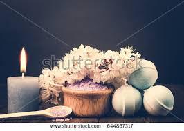 aroma bath bombs. spa salt, flower branch, bath bomb for beauty and health. healthy relaxation, aroma bombs