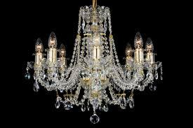 8 light classic georgian style chandelier in brass