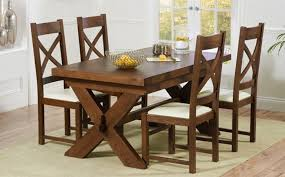 x leg walnut dining table