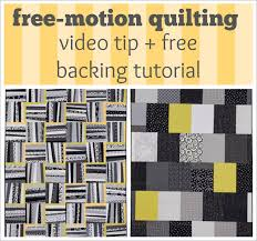 Free-motion quilting video tip + FREE quilt-backing tutorial | How ... & Free-motion quilting video tip + FREE quilt-backing tutorial Adamdwight.com