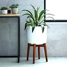 architecture white planter with stand throughout modern ideas from wood plant pot wooden collection attractive m white planter with wood