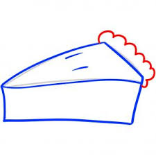 apple pie slice drawing. Perfect Pie Draw The Ruffled Crust And Move To Step Four On Apple Pie Slice Drawing E