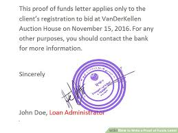 How To Write A Proof Of Funds Letter 11 Steps With Pictures