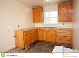 Kitchen Counters And Cabinets Kitchen Cabinets Without Countertop Stock Photography Image