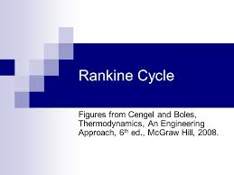 Rankine Cycle Figures from Cengel and Boles, Thermodynamics, An ...
