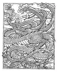 Free Printable Coloring Pages For Adults Advanced Dragons Coloring