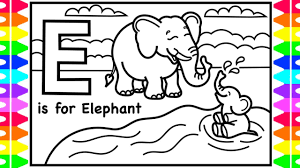 Enjoy the videos and music you love, upload original content, and share it all with friends, family, and the world on youtube. Abc Coloring Alphabets For Kids E Is For Elephant Coloring Page A To Z Coloring Pages For Kids Youtube
