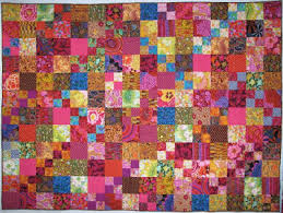 Exuberant Color : Quilts with Kaffe Fassett Fabric & I really like this quilt. I had made a few 4 patches but just wanted a  sprinkling of them throughout the quilt. Click here for the post that shows  a close ... Adamdwight.com