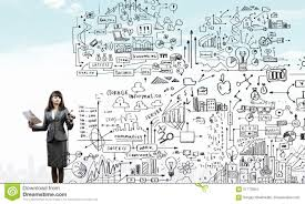 Woman Presenting Business Plan Stock Photo Image Of Drawing