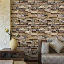 Brick Stone Self-adhesive Wall Sticker ...