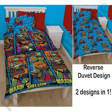 Ninja Turtle Bedroom Furniture Teenage Mutant Ninja Turtles Bedding Single Duvet Cover Sets Boys