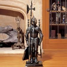 black knight fireplace tool ensemble