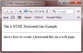 Horizontal lines also work well to separate areas of your documents such as chapters, appendices and diagrams. Html Horizontal Line