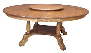 large round dining table traditional country solid oak wood 6072 round dining table with lazy susan