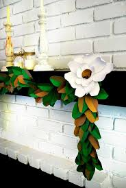 DIY Paper Magnolia Leaf Garland