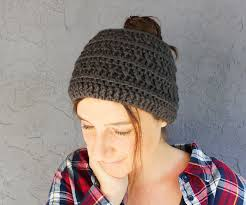 Free Crochet Pattern For Messy Bun Hat New Free Crochet Messy Bun Hat Pattern In A Chunky Boho Style