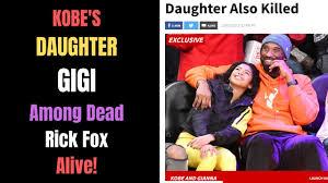 Kobe Bryant's Daughter Gianna GiGi Dead in Helicopter Crash