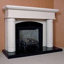 the porto limestone fireplace