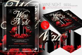 Wine Night Invitation Flyer Template By Dennybusyet On Deviantart