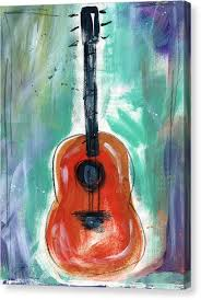 red guitar canvas print storyteller s guitar by linda woods on guitar canvas wall art red with red guitar canvas prints fine art america