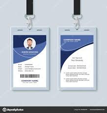 Company Id Card Template Simple Corporate Id Card Design Template Stock Vector