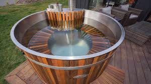 alpine tubs wood fired hot tub with full cedar seat and guard