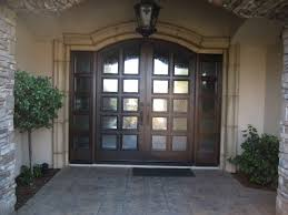 front doors with glass panel above