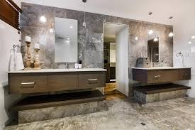 Modern Bathroom With Two Sinks And Frameless Mirrors Also Lovely - Candles for bathroom