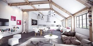Small Studio Apartment Brick And Small Apartment Brick Wall Loft - Loft apartment brick