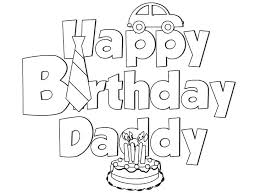 dad coloring pages happy birthday daddy sheets