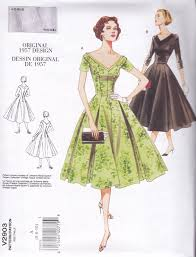 Retro Dress Patterns Fascinating Vogue Vintage 48 Sewing Pattern Misses Fitted Dress Sizes à 48