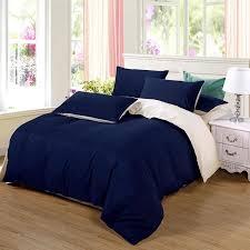 ab side bedding set super king duvet cover set dark blue beige 3 bedclothes bed set man duvet flat sheet california king bedding yellow bedding from