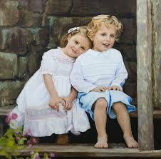 original oil portrait painting on canvas by mark e lovett