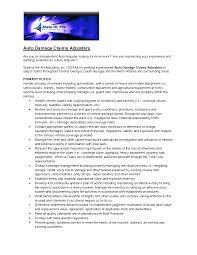 Autorance Claims Adjuster Resume Examples Example For Unique Sample