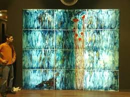 glass wall art pictures stained interior duck liquid glass wall art